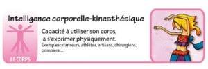 Les intelligences multiples – kinesthésique / corporelle