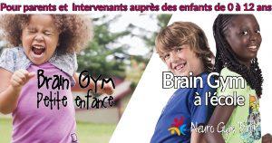Formation Brain Gym à la petite enfance et Brain Gym à l'école Montréal - 29 janvier 2017