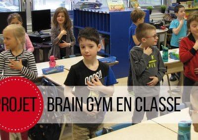 Projet Brain Gym en classe