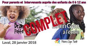 Brain Gym petite enfance et école - COMPLET
