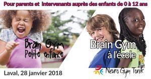 Brain Gym petite enfance et à l'école Laval