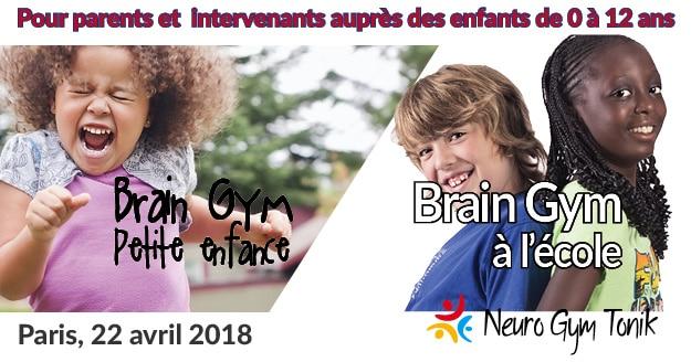 Brain Gym petite enfance et à l'école Paris 2018