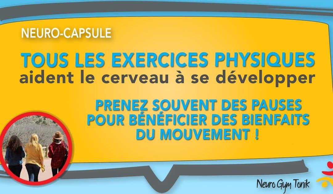 Tous les exercices physiques | Neuro-Capsule