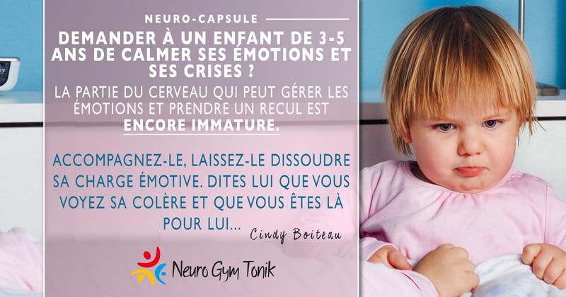 Colère chez l'enfant  | Neuro-Capsule de la semaine