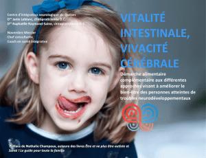 VITALITÉ INTESTINALE, VIVACITÉ CÉRÉBRALE - Couverture