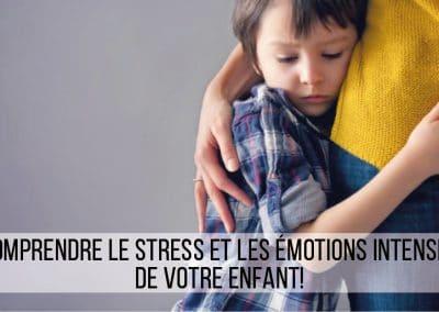 Comprendre le stress et les émotions intenses de votre enfant !
