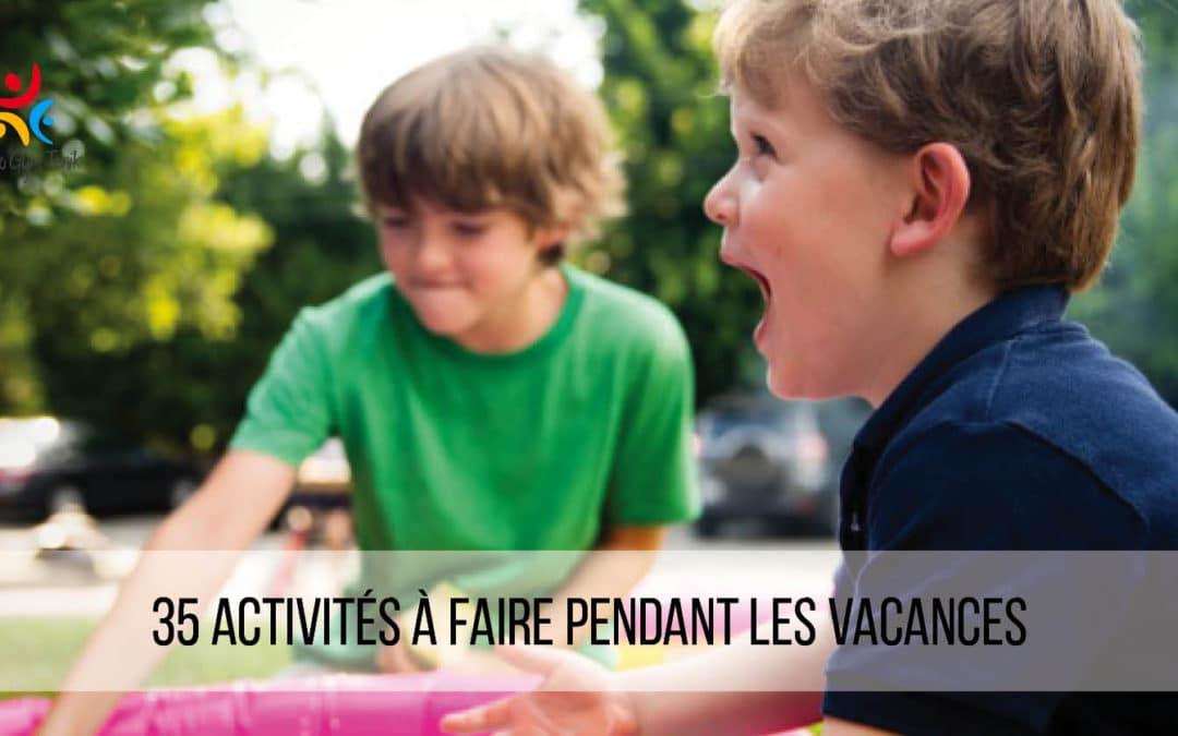35 activités à faire pendant les vacances scolaires