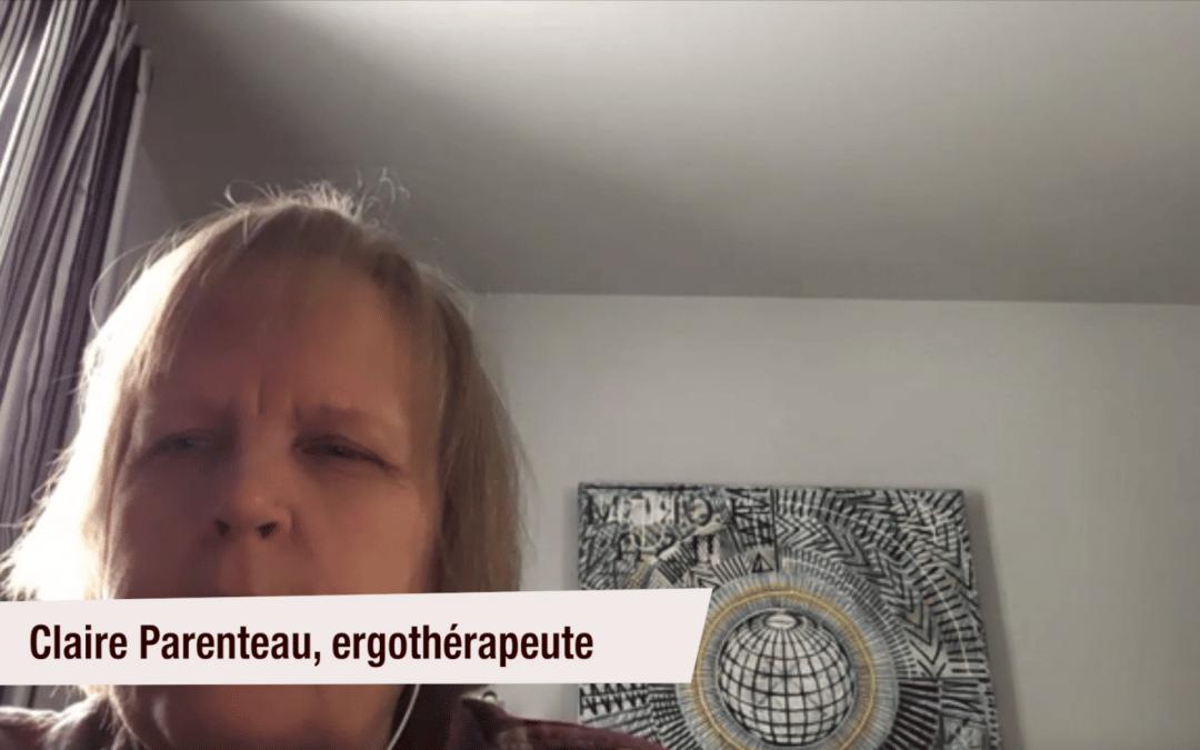 Claire Parenteau, ergothérapeute, l'utilise pour les problèmes de sommeil et d'agitation des enfants